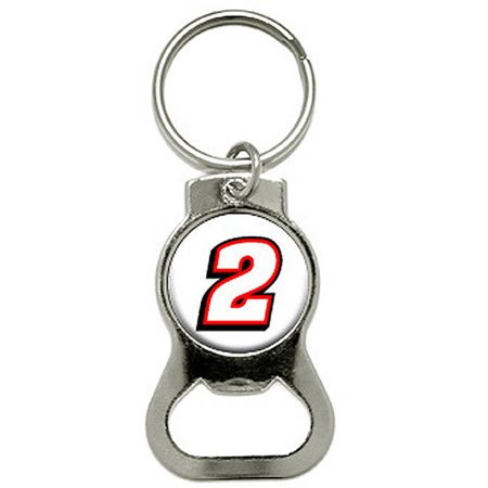2 Number Racing Bottle Cap Opener Keychain - Number Ring