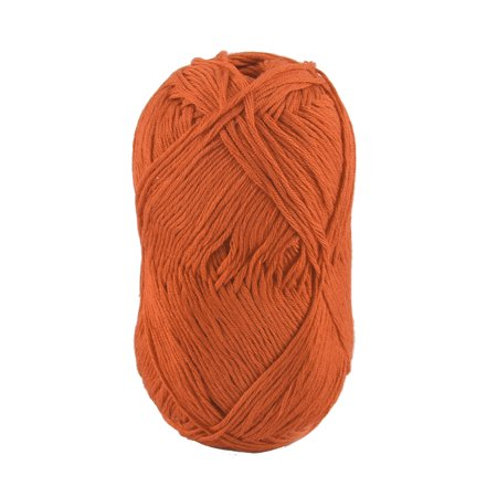 Cotton Clothing Hand Knit Sweaters - Cotton Hand DIY Knitting Clothes Hat Sweater Crochet Thread 50 Gram Orange