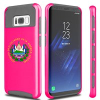 For Samsung Galaxy Shockproof Impact Hard Soft Case Cover El Salvador Escudo Coat Of Arms (Hot-Pink For Samsung Galaxy S8)