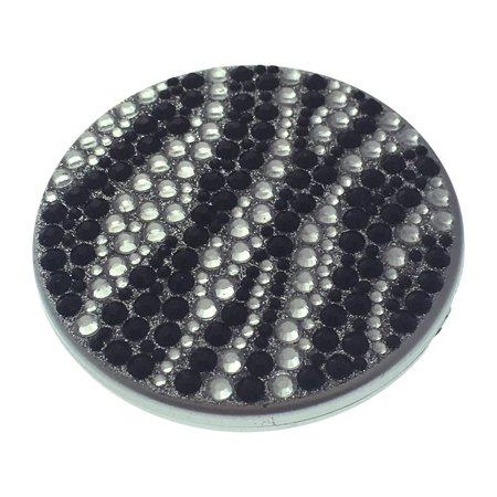 Compact Bling Beauty Cosmetics Make-Up Mirror - Black/ Silver