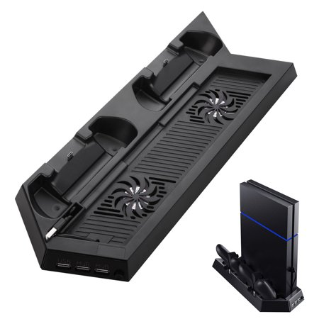 EEEKit PS4 Cooling Station Vertical Stand w/ 2 PlayStation 4 DualShock 4 Controller Charging Dock and Dual USB HUB (Best Dualshock 4 Charging Station)