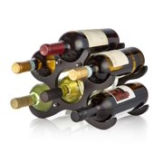 Adir 304 6-Bottle Wood Wine Rack