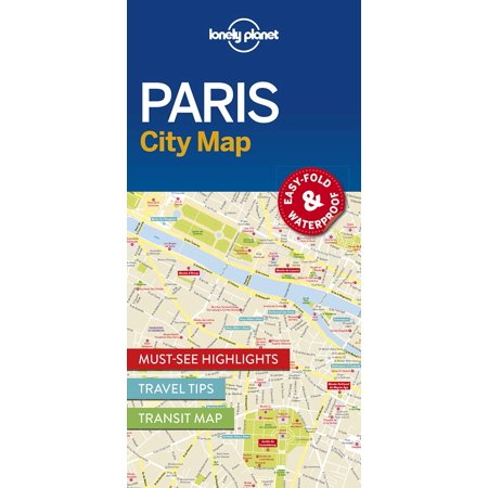 Map: lonely planet paris city map (other): 9781786574152 (Maps Paris)