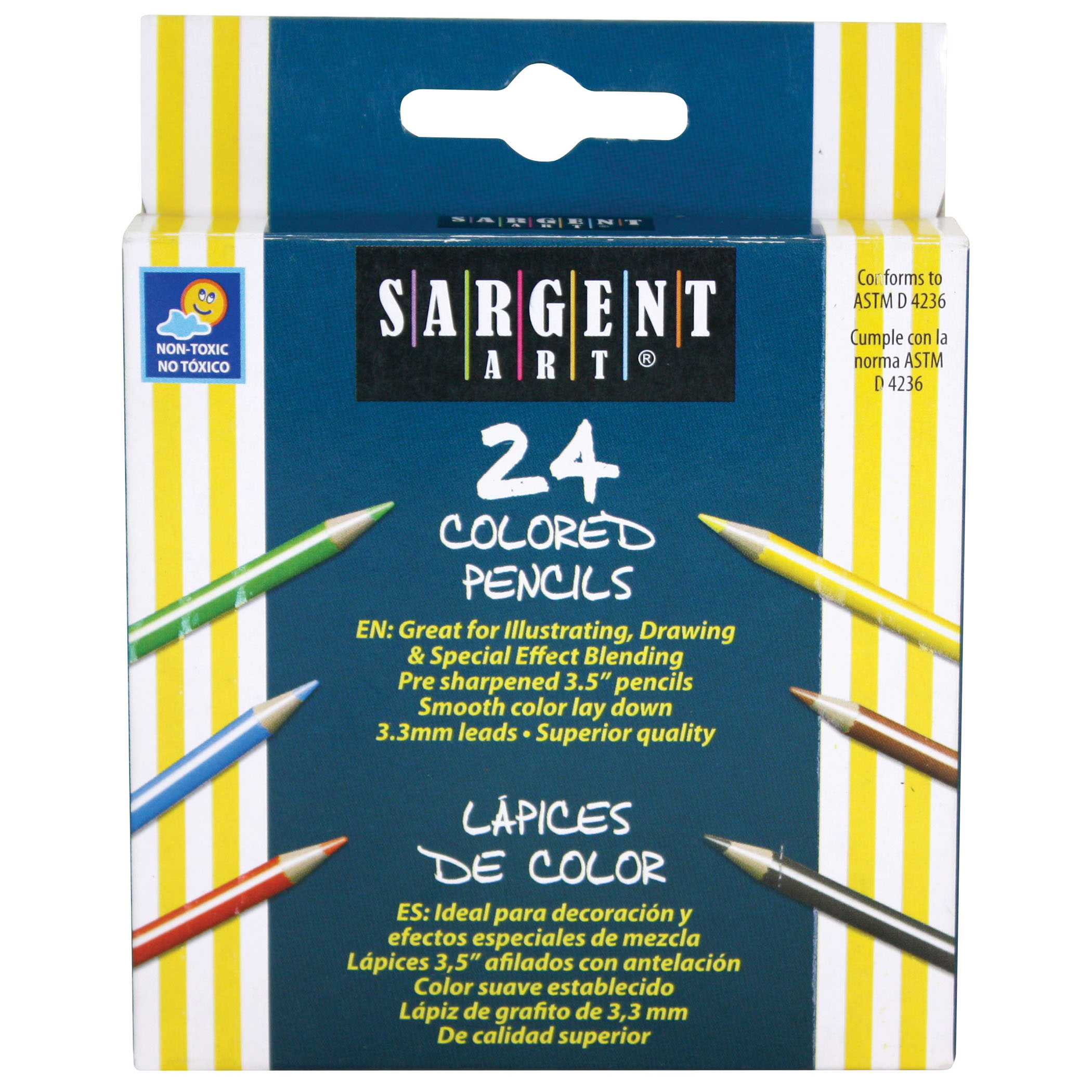 Sargent Art® Half Size Colored Pencils, 24 per pack, 12 packs