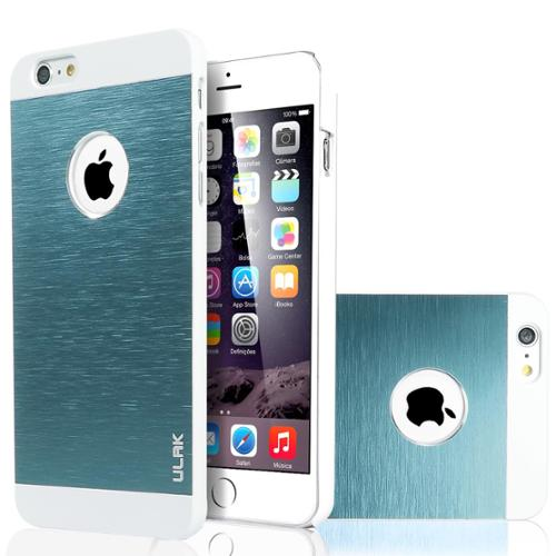 ULAK Brushed Steel Aluminum Coating Hard Protective Case Cover For Apple iPhone 6 Plus /iPhone 6s Plus (5.5 inch)(White/Grey)