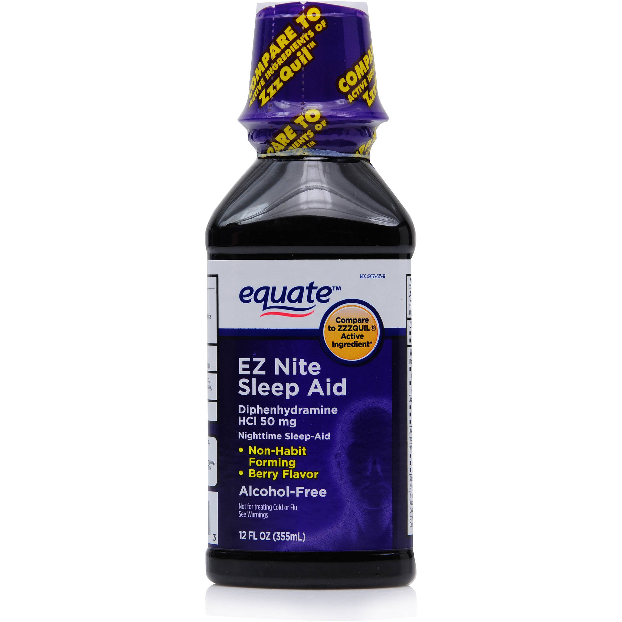 Equate alcohol free night time sleep aid, 12 Oz