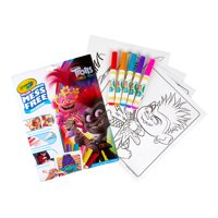 Crayola Trolls 2 Color Wonder, 18 Mess Free Coloring Pages, Gift