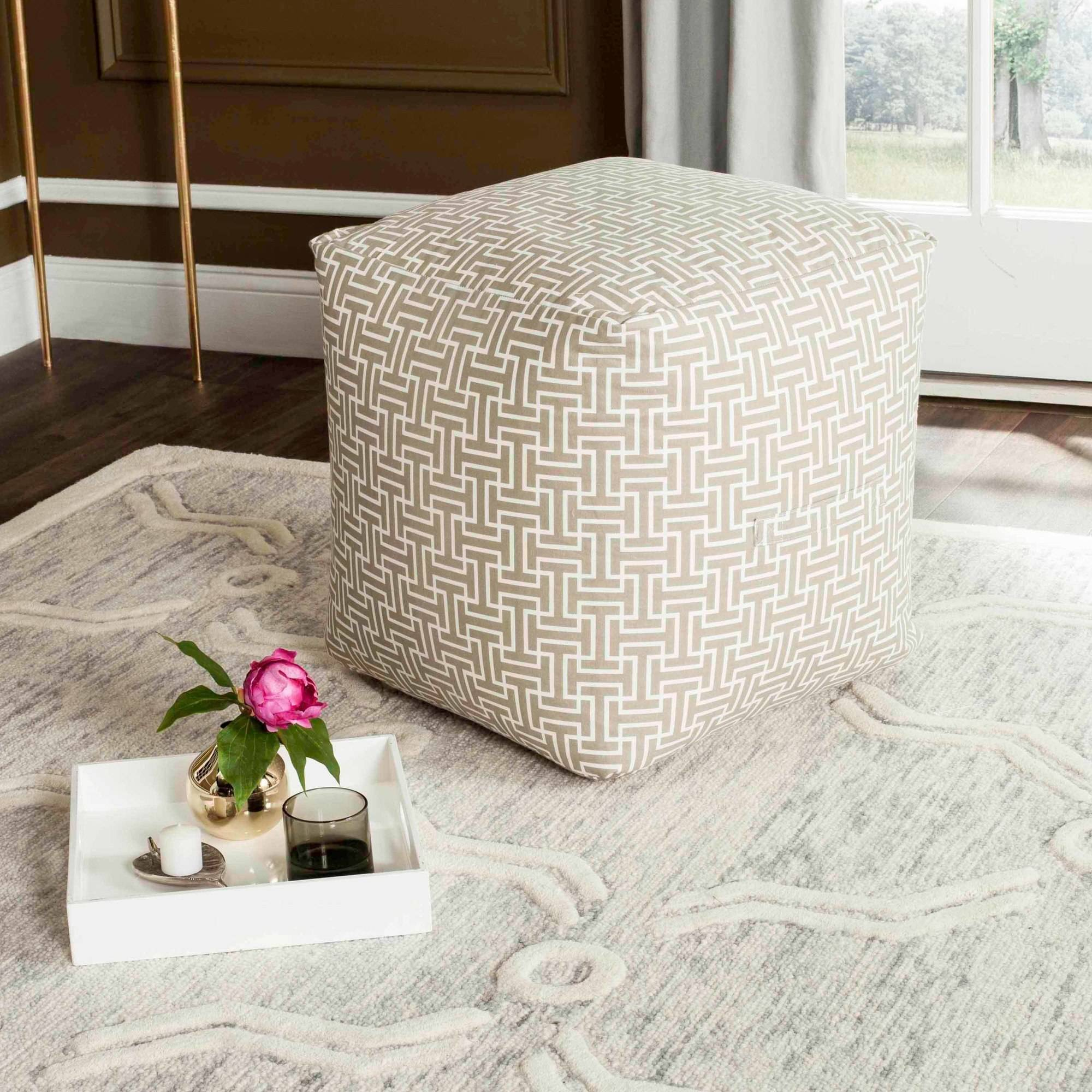 "Safavieh 18"" Chloe Cube Pouf, Multiple Colors by Safavieh"