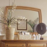 American Drew Antigua Accent Landscape Mirror in Toasted Almond