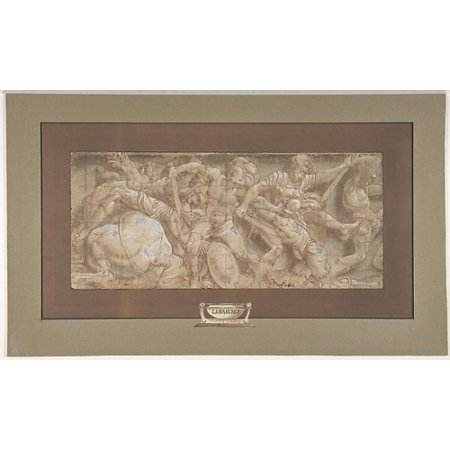 """Battle Scene Poster Print by Lelio Orsi (called Lelio da Novellara) (Italian Novellara 150811  """"1587 Novellara) (18 x 24) ()"""