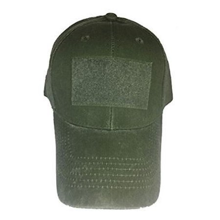 Personalized Olive - BLANK HOOK AND LOOP BACKING PATCH HAT OD OLIVE DRAB GREEN CUSTOMIZE PERSONALIZE