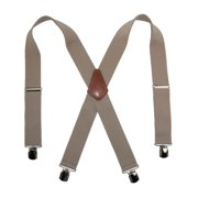 Size one size Men's Terry Casual Elastic with Anti Slip Pin Clip 2 Inch Suspenders