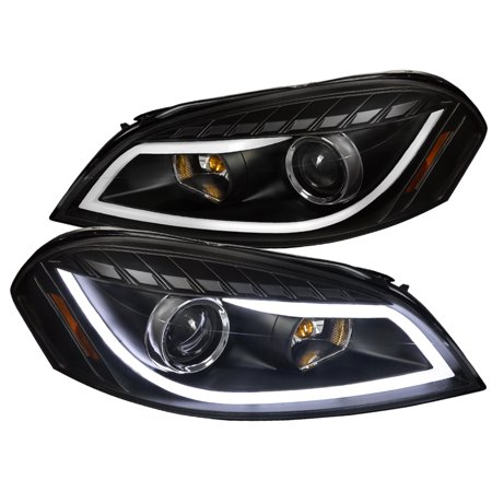 Spec-D Tuning 2006-2013 Impala 2006-2007 Monte Carlo Led Strip Bar Projector Headlights 2006 2007 2008 2009 2010 2011 2012 2013 (Left + Right) ()