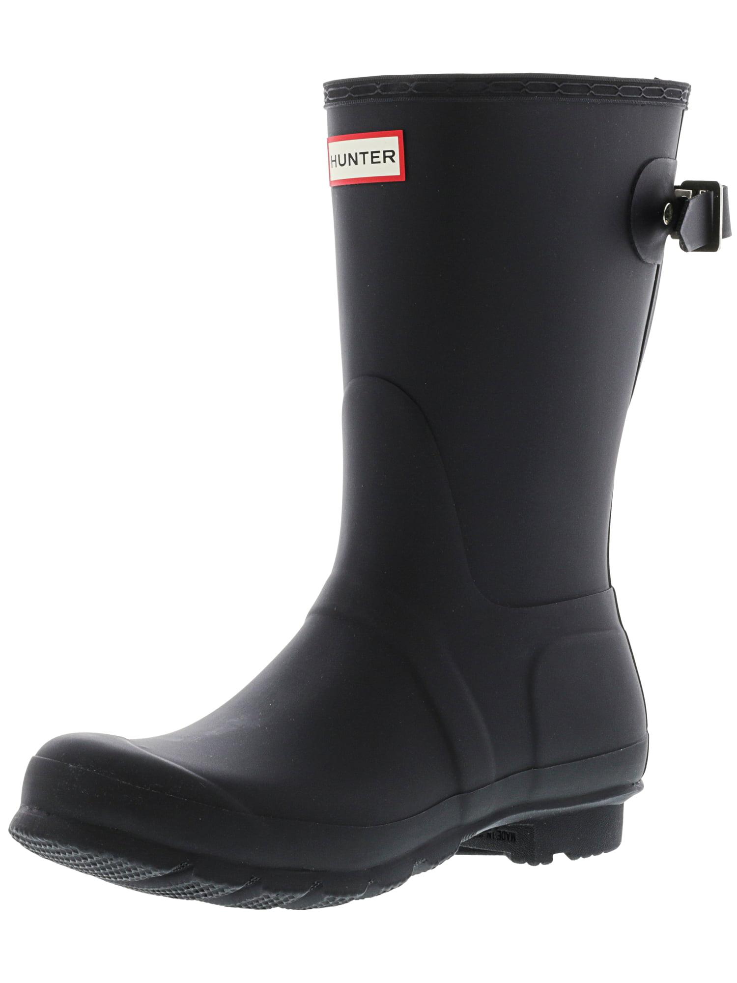 Black Mid-Calf Rubber Rain Boot - 6M
