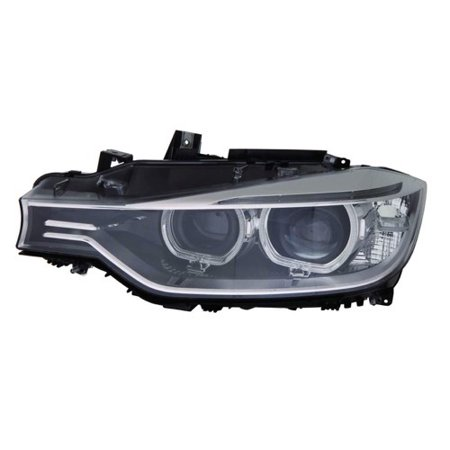 Go-Parts » 2013 - 2015 BMW 320i xDrive Front Headlight Headlamp Assembly Front Housing / Lens / Cover - Left (Driver) Side - (F30 Body Code; Sedan) 63 11 7 338 705 BM2502181 Replacement For BMW)