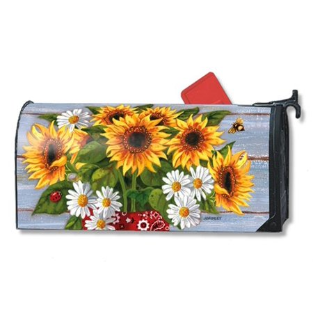 Bandana Sunflowers Summer Magnetic Mailbox Cover Summer Standard Mailwraps