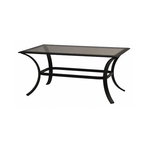 Patio Master AKH09810K01 Bellevue Patio Collection Glass Top Coffee Table,  Espresso Aluminum, 24