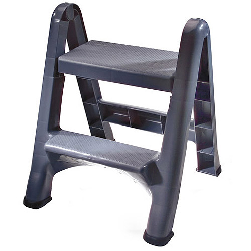 Rubbermaid Folding 2-Tier Step Stool by Rubbermaid