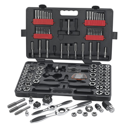 Gearwrench 82812 114 piece Large Double Box Ratcheting Socketing Wrench Tap and Die Set
