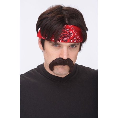 The Biker Brown Mustache Adult Halloween Accessory - Buy A Mustache