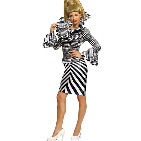 Zoolander 2 Kristen Wiig Alexanya Licensed Womens Movie Halloween Costume (Black And White Movie Characters Halloween)