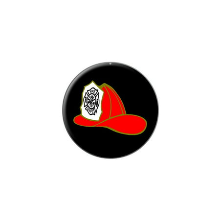 3ff95cf91ddf55 Graphics and More - Fire Fighter Helmet - Fire Department on Black Lapel Hat  Pin Tie Tack Small Round - Walmart.com