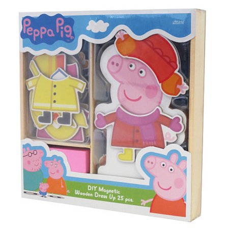 Peppa Pig Magnetic Wood Dress Up Box