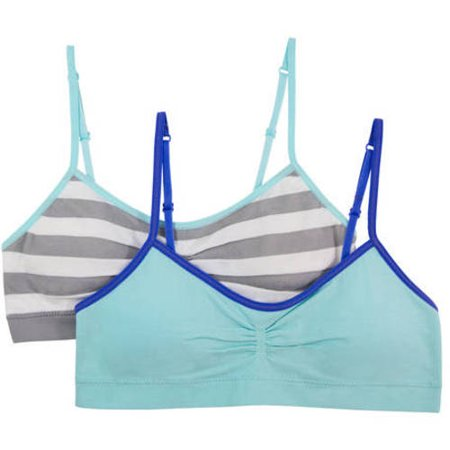 Fruit Of The Loom Girls Seamless Bra with Removable Pads, 2 Pack