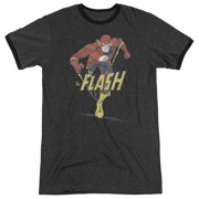 Dco Desaturated Flash Mens Adult Heather Ringer Shirt