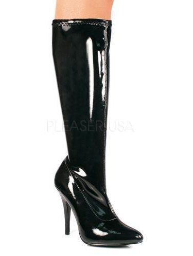 SED2000/B High Pleaser Single Soles Knee High SED2000/B Boots BLACK Size: 14 982822