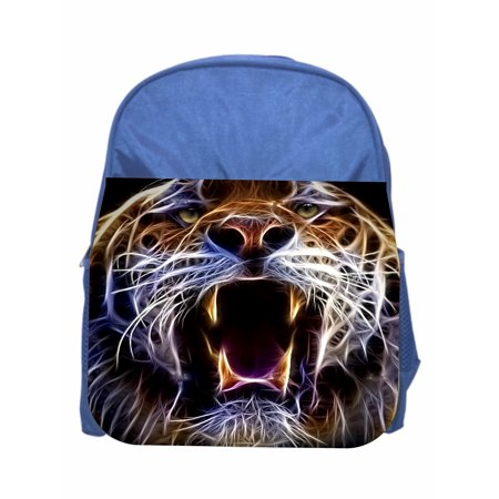 Tiger Yawn Blue Girls / Boys Preschool Toddler Backpack & Lunch Box Set