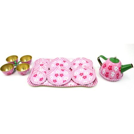 Flower Teapot (Metal Teapot And Cups Kitchen Playset (Flower))