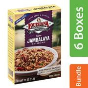 (6 Pack) Louisiana Entree Mix, Cajun Jambalaya, 7.5 oz