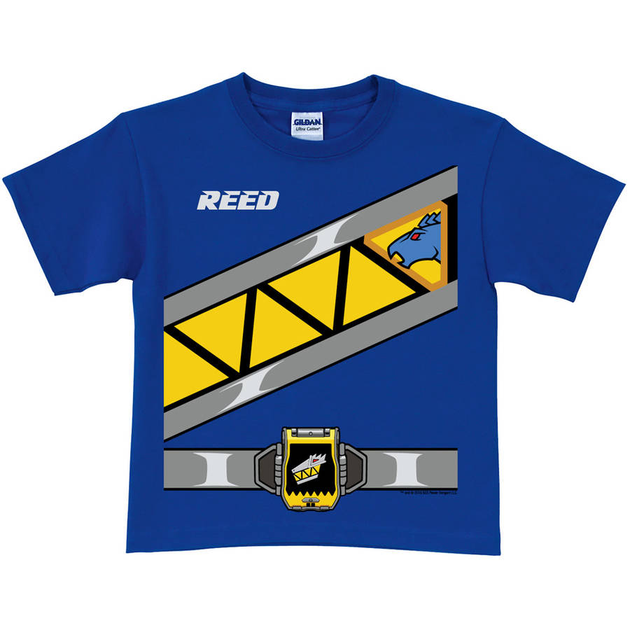 Personalized Power Rangers Dino Charge Boys' Blue Ranger T-Shirt