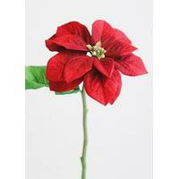 """4PK Red Artificial Garden Poinsettia - 13"""" Tall"""