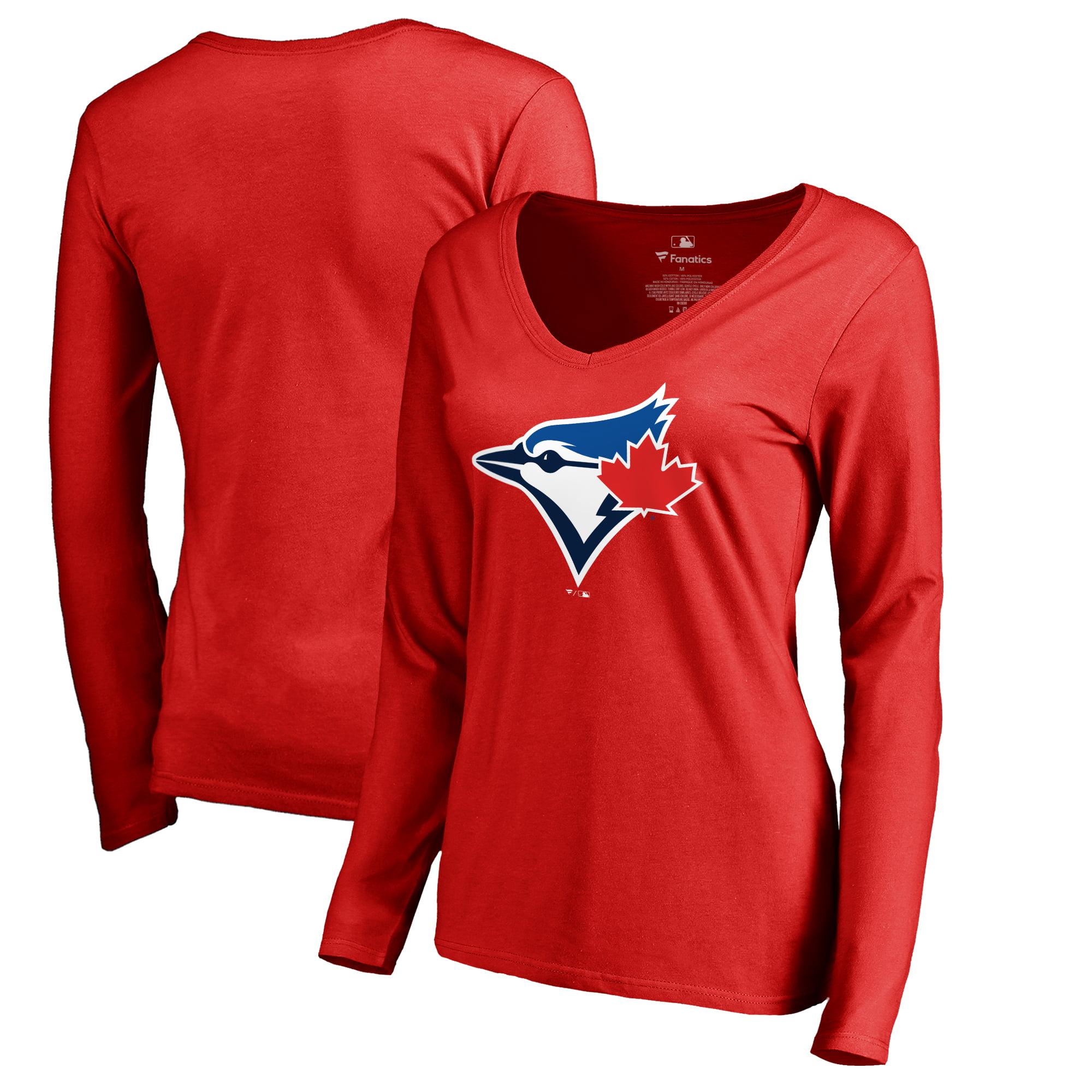 Toronto Blue Jays Fanatics Branded Women's Logo Long Sleeve T-Shirt - Red