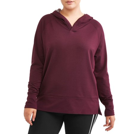 7b289538b54 AVIA - Avia Women's Plus Size Hooded Tunic Sweatshirt - Walmart.com