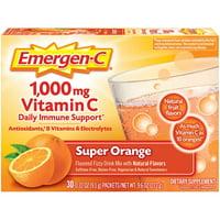 Emergen-C Original Formula (30 Ct, Super Orange) Vitamin C Powder