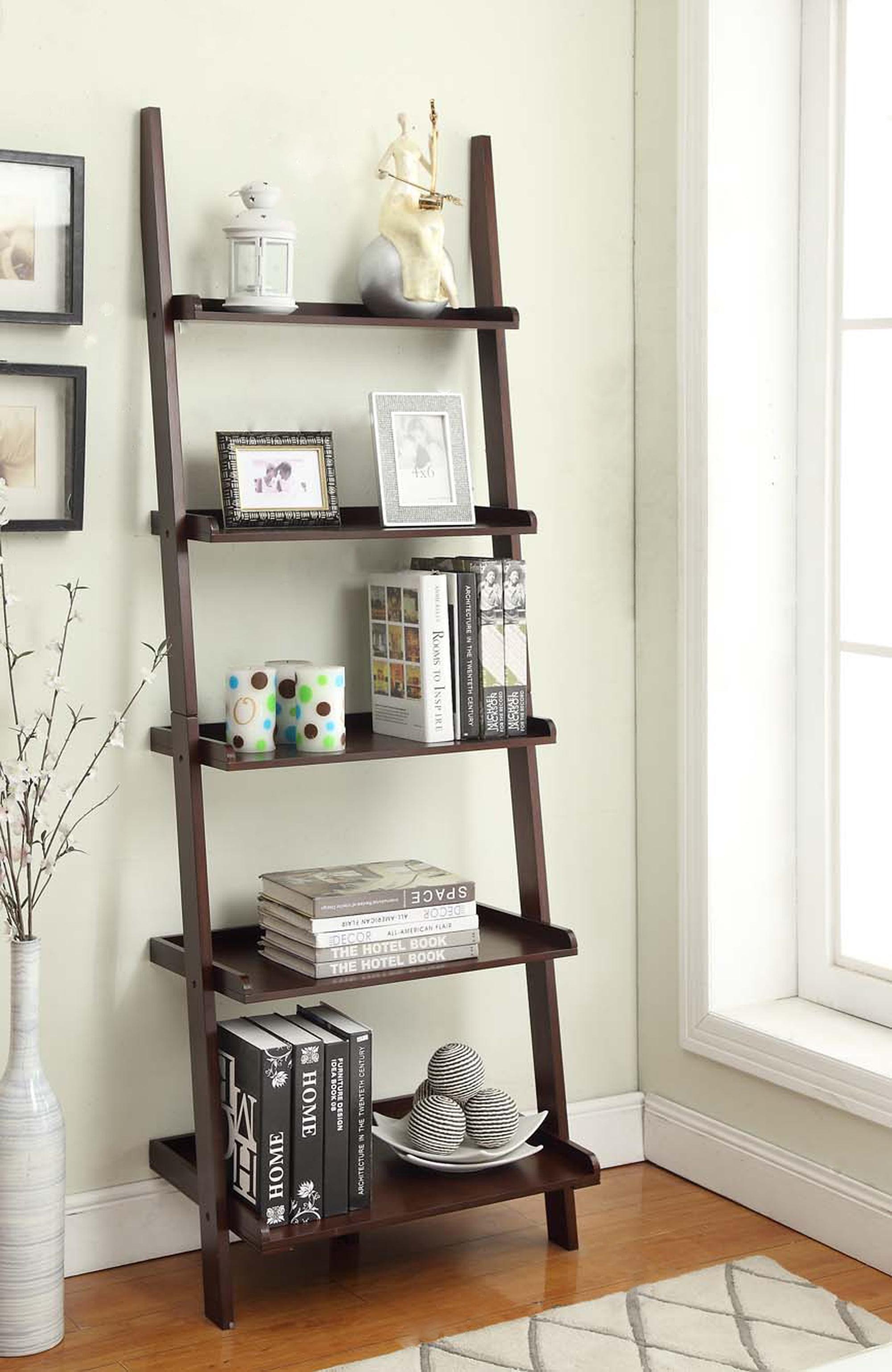 tiers storage shelves display black bookcase white bookcases steel dp lifewit kitchen amazon espresso wall leaning home unit ladder carbon com shelf bookshelf