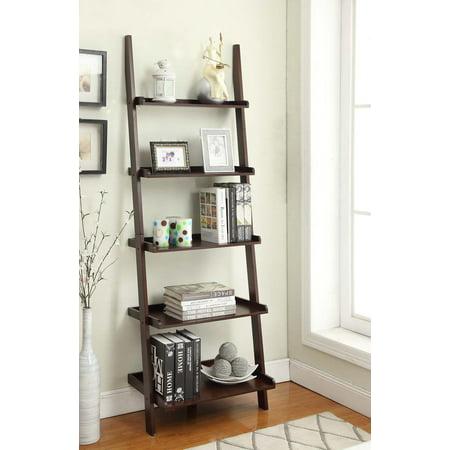 47b6183fdd Convenience Concepts American Heritage 5-Shelf Bookshelf Ladder, Multiple  Finishes - Walmart.com