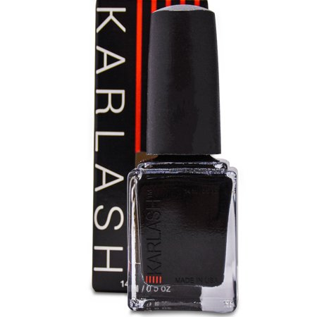 Pretty Sparkly Halloween Makeup (Karlash Nail Polish, Black, Halloween Wicked, Pure Black, Dark Color .05)