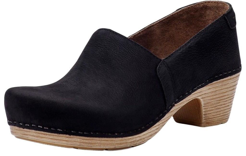 Dansko Shoes Womens Mavis Leather 9307101400 Rounded Toe 40 Black 9307101400 Leather 53ce89