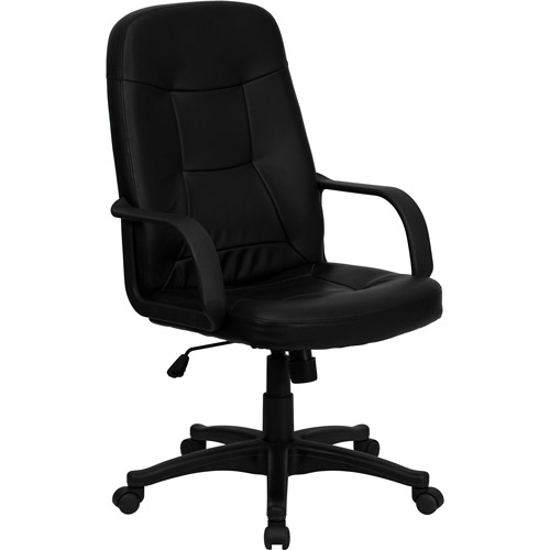 flash furniture high-back executive office chair with arms, black
