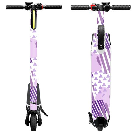 Skin Decal Wrap for Swagtron Swagger Electric Scooter cover Purple Pentagon