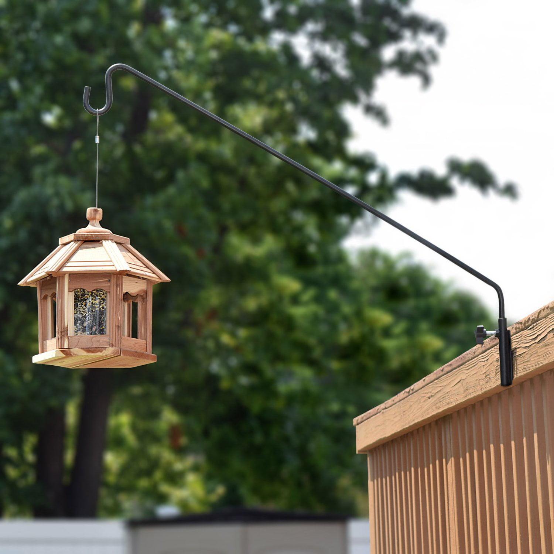 hooks wall garden com double weather metal amazon patio for decks deck hangers outdoor dp feeder pennington bird pack all