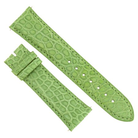 Hadley Roma 21 MM Matte Lime Green Alligator Leather