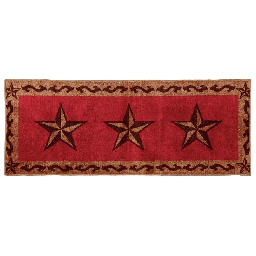 Red Star Western Bath Runner - Western Kitchen Decor