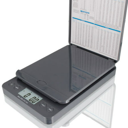 SAGA 86 lb. DIGITAL POSTAL SHIPPING SCALE by SAGA X 0.1 OZ WEIGHT USPS POSTAGE W/AC USB Charger , Pro Model, Grey