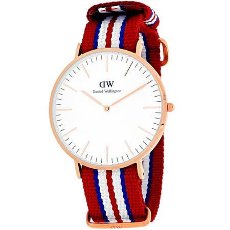 Daniel Wellington Exeter White Dial Canvas Strap Men's Watch 0112DW