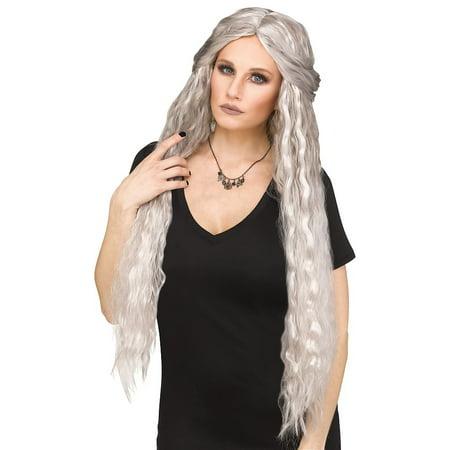 Siren Ghost Wig Adult Costume Accessory Silver - Walmart.com